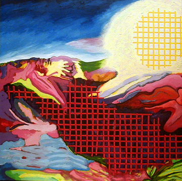 1990's. City of Glass - Looking Outward. Claude Breeze, Artist