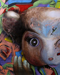 2009 Toybox series. Little Mouse Doll Head. Claude Breeze, Artist