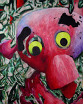 2009 Toybox series. Pink Ragged Doll Head. Claude Breeze, Artist